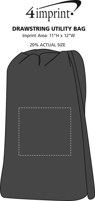 Imprint Area of Drawstring Utility Bag