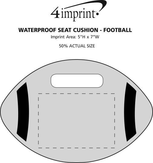 Imprint Area of Waterproof Seat Cushion - Football