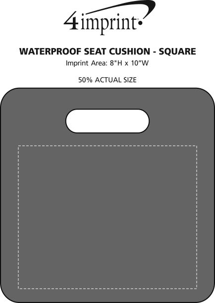 Imprint Area of Waterproof Seat Cushion - Square