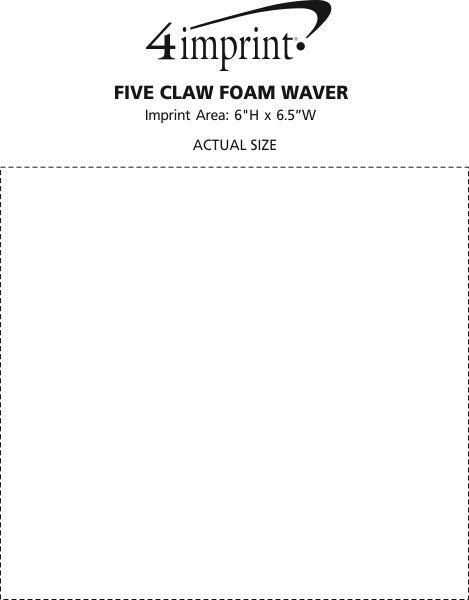 Imprint Area of Five Claw Foam Waver