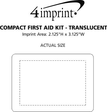 Imprint Area of Compact First Aid Kit - Translucent