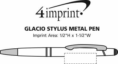 Imprint Area of Glacio Stylus Metal Pen