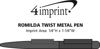 Imprint Area of Romilda Twist Metal Pen