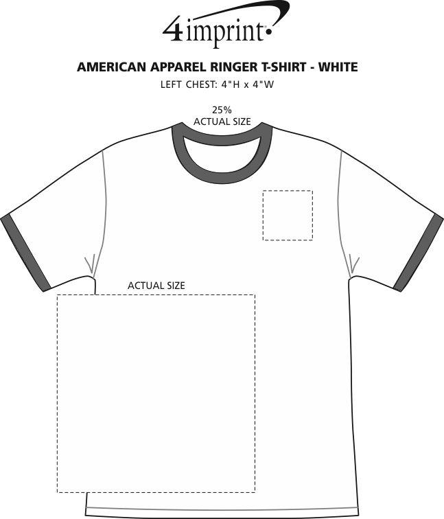 Imprint Area of American Apparel Ringer Blend T-Shirt - White