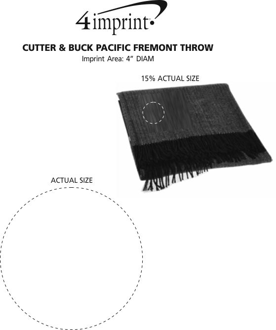 Imprint Area of Cutter & Buck Pacific Fremont Throw