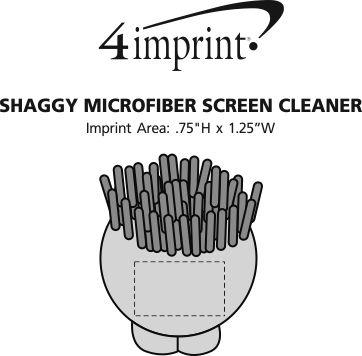 Imprint Area of Shaggy Microfiber Screen Cleaner