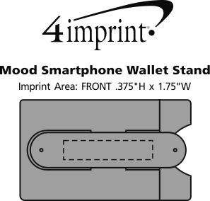 Imprint Area of Mood Smartphone Wallet Stand