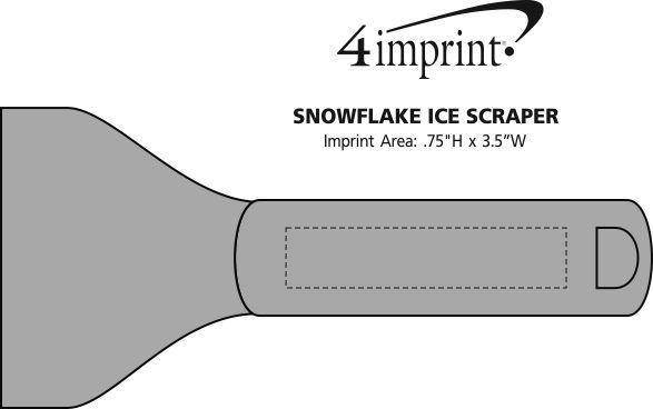 Imprint Area of Snowflake Ice Scraper