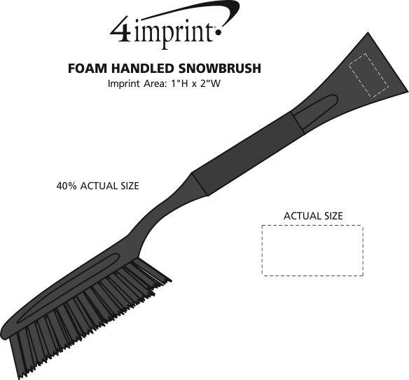 Imprint Area of Foam Handled Snowbrush