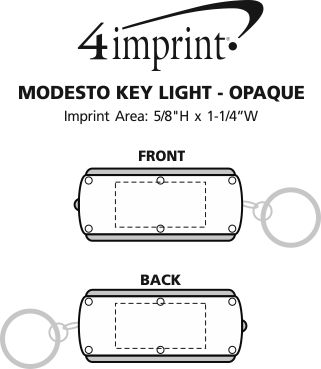 Imprint Area of Modesto Key Light - Opaque