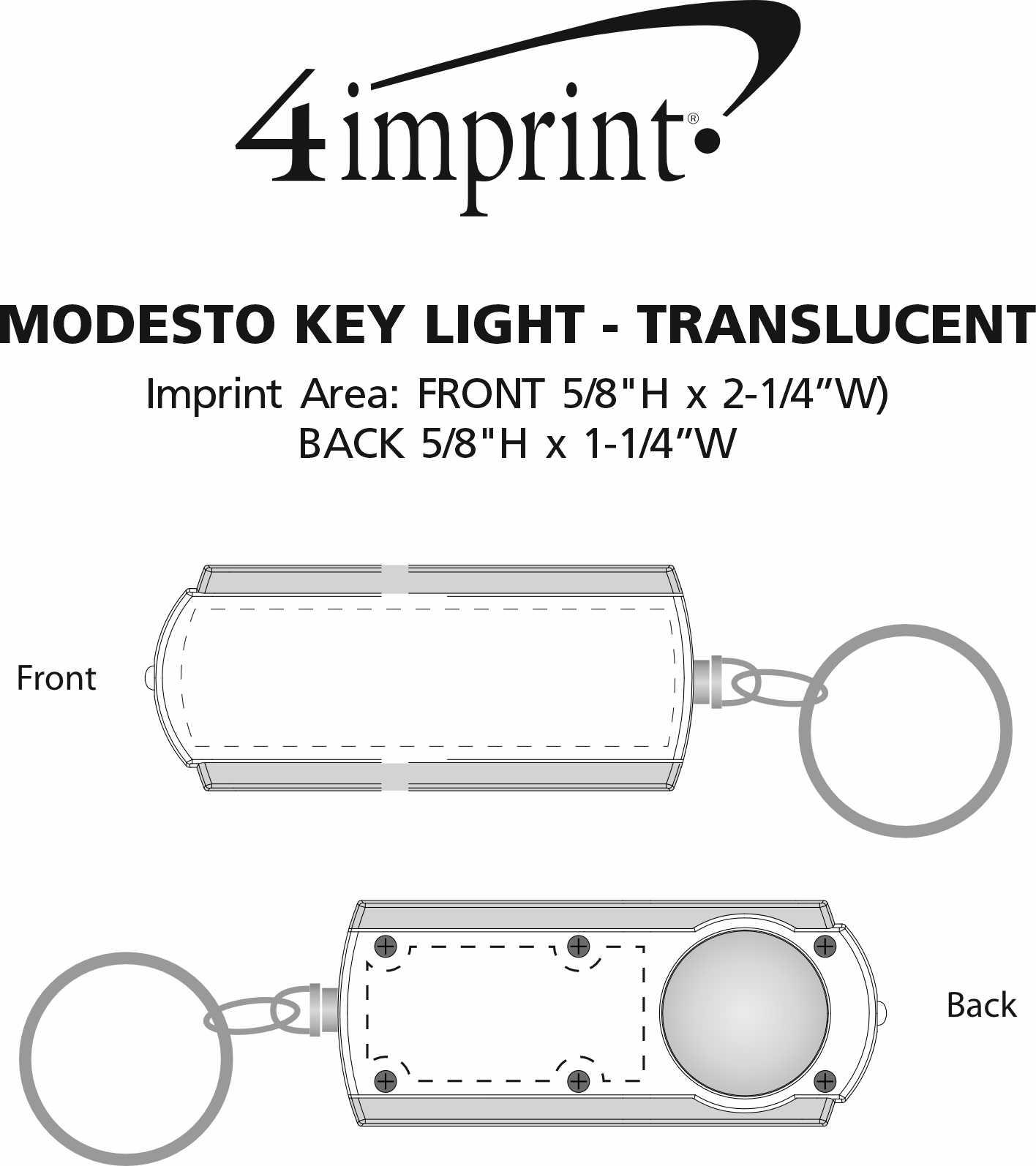 Imprint Area of Modesto Key Light - Translucent