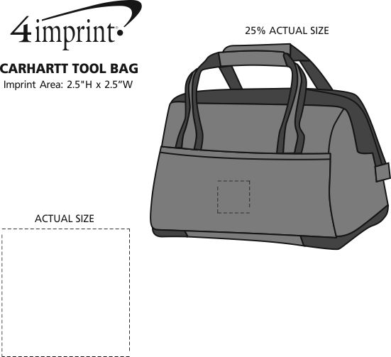 Imprint Area of Carhartt Signature Tool Bag