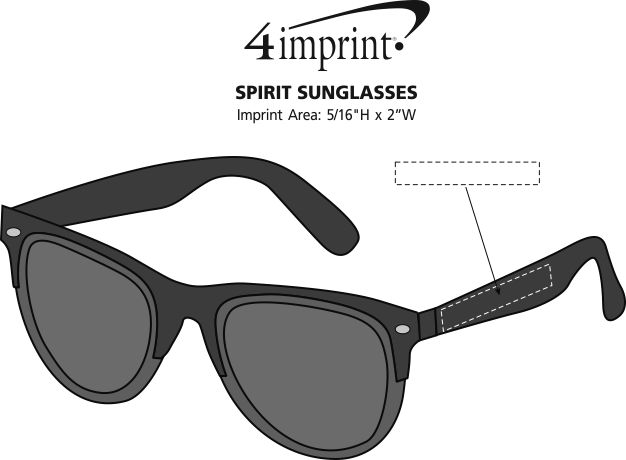 Imprint Area of Spirit Sunglasses