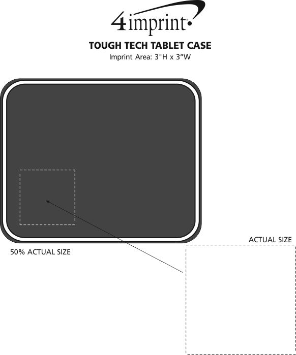 Imprint Area of Tough Tech Tablet Case