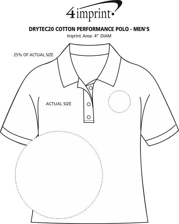 Imprint Area of DryTec20 Cotton Performance Polo - Men's