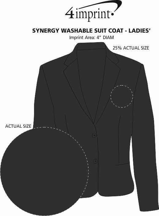 Imprint Area of Synergy Washable Suit Coat - Ladies'
