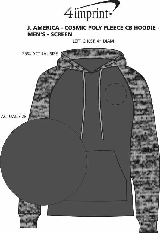 Imprint Area of J. America - Cosmic Poly Fleece CB Hoodie - Men's - Screen