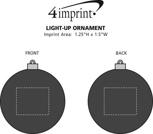 Imprint Area of Light-Up Ornament