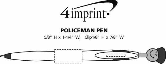 Imprint Area of Police Officer Pen