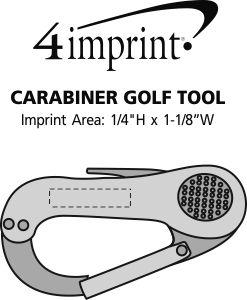 Imprint Area of Carabiner Golf Tool