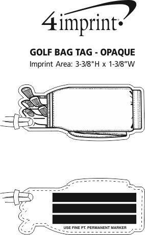 Imprint Area of Golf Bag Tag - Opaque