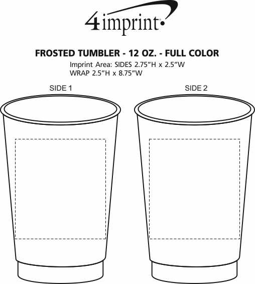 Imprint Area of Frosted Tumbler - 12 oz. - Full Color