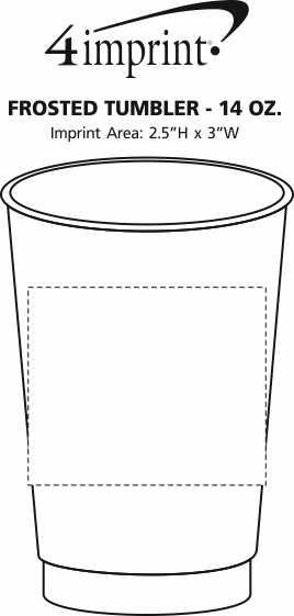 Imprint Area of Frosted Tumbler - 14 oz.