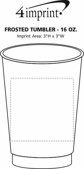 Imprint Area of Frosted Tumbler - 16 oz.