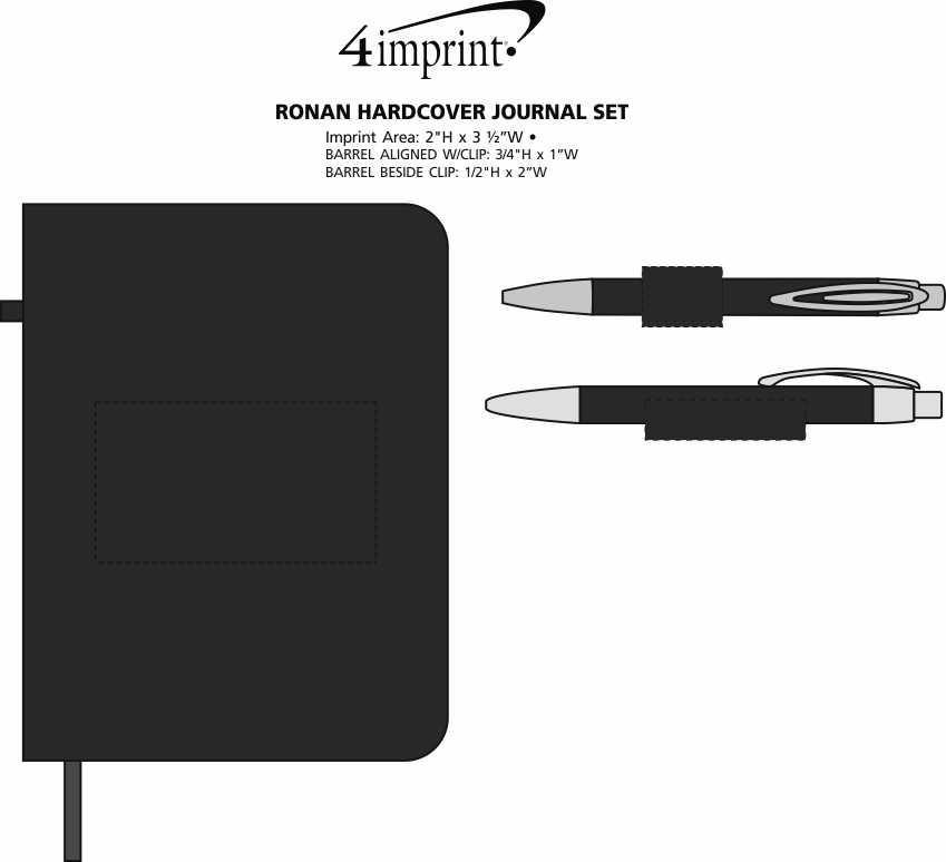 Imprint Area of Ronan Hardcover Journal Set