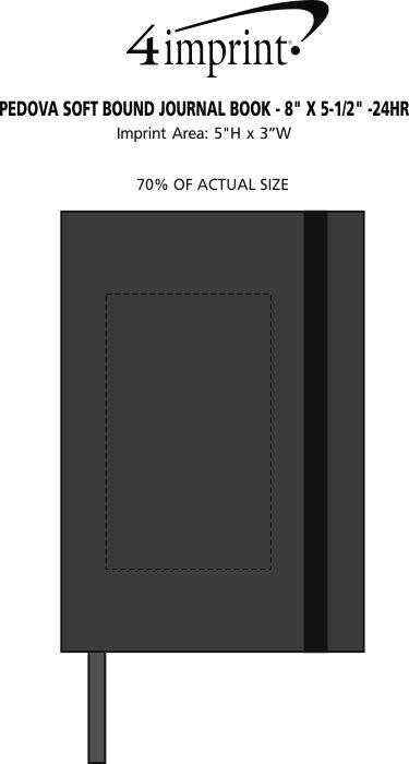 "Imprint Area of Pedova Soft Bound Journal Book - 8"" x 5-1/2"" - 24 hr"