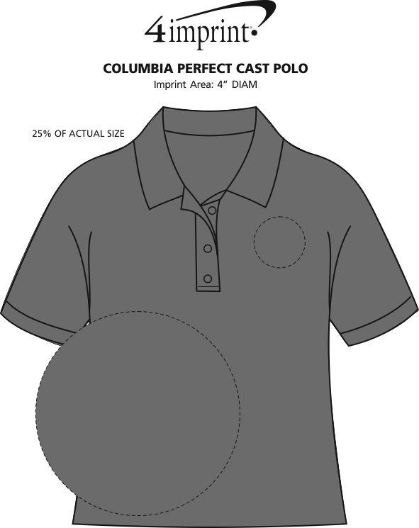 Imprint Area of Columbia Perfect Cast Polo