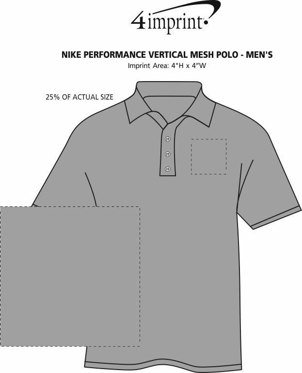 Imprint Area of Nike Performance Vertical Mesh Polo - Men's - Full Color