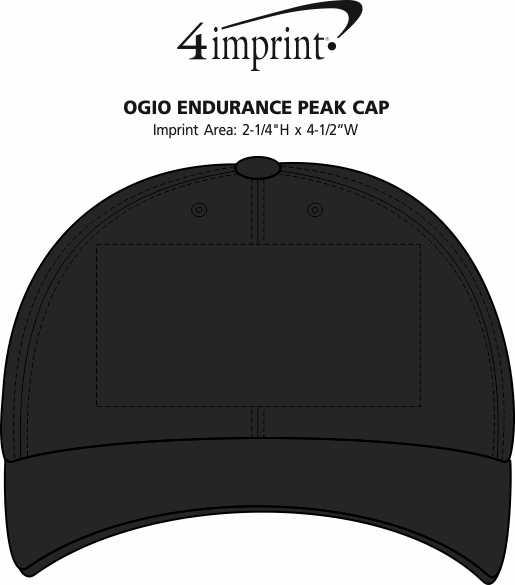 Imprint Area of OGIO Endurance Peak Cap