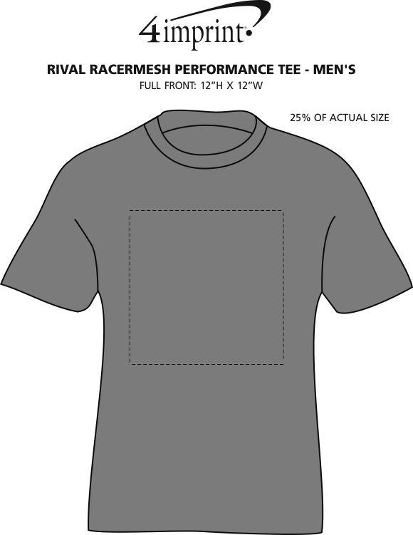 Imprint Area of Rival RacerMesh Performance Tee - Men's - Screen