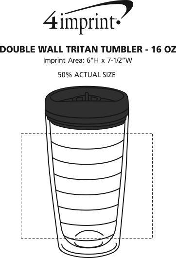Imprint Area of Double Wall Tritan Tumbler - 16 oz.