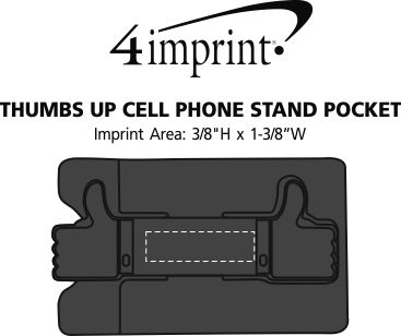 Imprint Area of Thumbs Up Cell Phone Stand Pocket