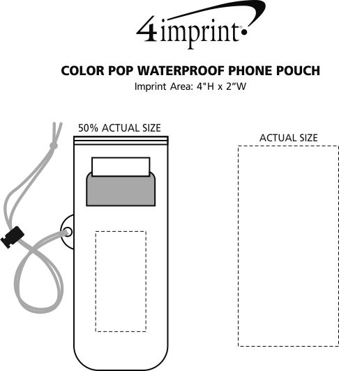 Imprint Area of Color Pop Waterproof Phone Pouch