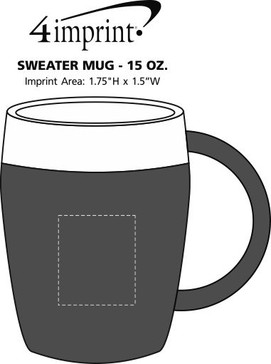 Imprint Area of Sweater Mug - 15 oz.