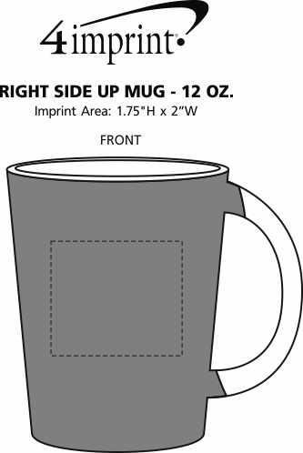 Imprint Area of Right Side Up Mug - 12 oz.