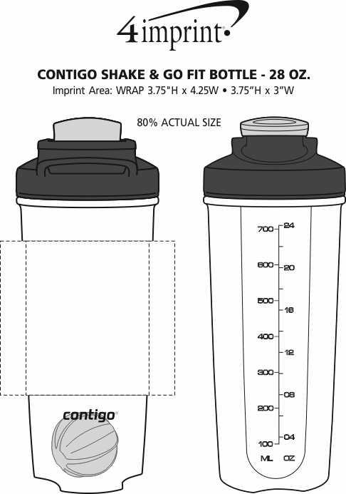 Imprint Area of Contigo Shake & Go Fit Bottle - 28 oz.