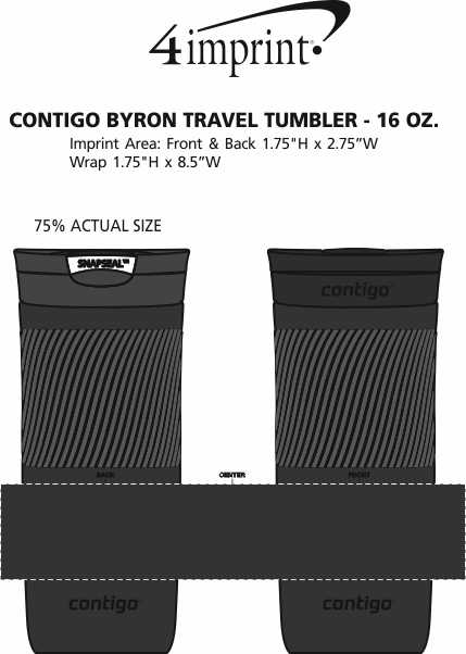 Imprint Area of Contigo Byron Travel Tumbler - 16 oz.
