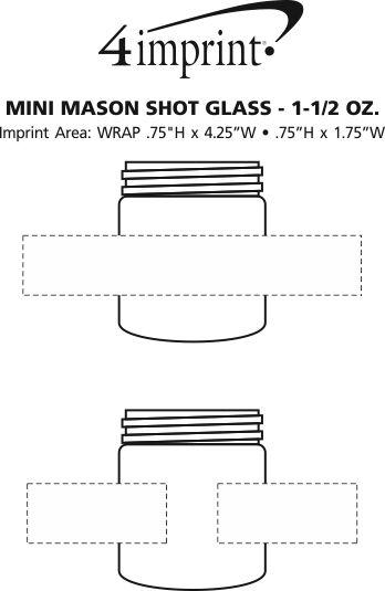 Imprint Area of Mini Mason Shot Glass - 1.5 oz.