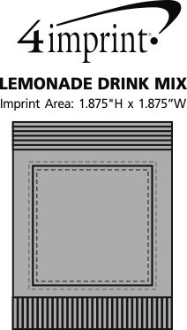 Imprint Area of Lemonade Drink Mix - Full Color