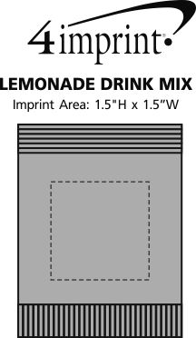Imprint Area of Lemonade Drink Mix