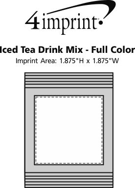 Imprint Area of Iced Tea Drink Mix - Full Color