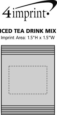 Imprint Area of Iced Tea Drink Mix