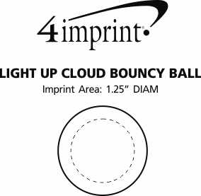 Imprint Area of Light-Up Cloud Bouncy Ball