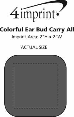 Imprint Area of Colorful Ear Bud Carry All