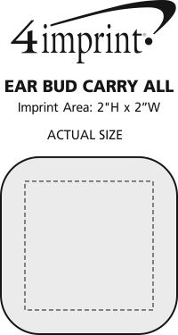 Imprint Area of Ear Bud Carry All