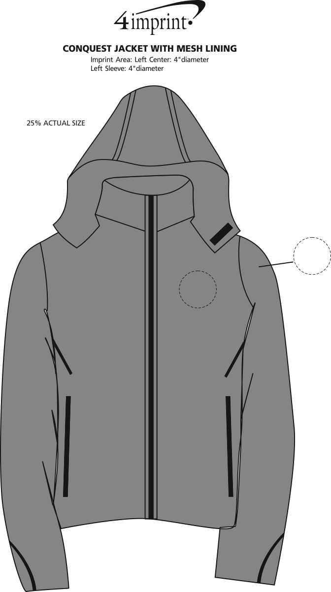 Imprint Area of Conquest Jacket with Mesh Lining